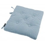 Auberge Buttoned  Blue seat pad