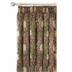 William Morris Pimpernel Aubergine Lined Curtains