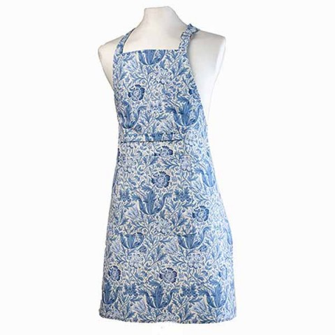 William Morris Blue Compton Fabric Halter Apron