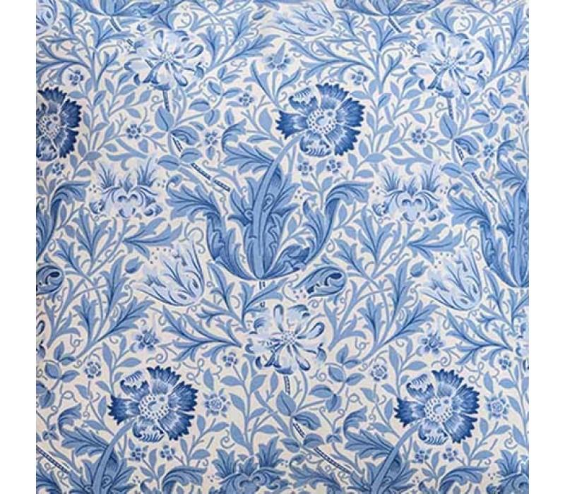 William Morris Blue Compton Oxford Seat Pad