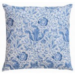 William Morris Blue Compton Cushion