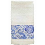 William Morris Blue Compton Trimmed Towels