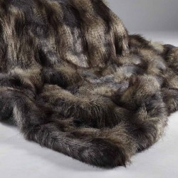 Blue Wolf Faux Fur