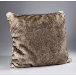 Brown Snow Fox Fur Cushion