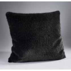 London Charcoal Fur Cushion