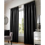 chenille black tape curtains