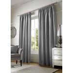 chenille silver tape curtains