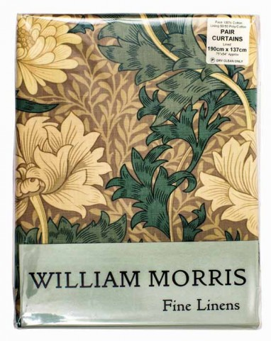 William Morris Chrysanthemum Lined Curtains