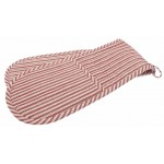 County Ticking Dorset Red double oven glove