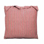 County Ticking Dorset Red cushion cover with ties