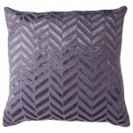 Herringbone Flax Blue Jute Cushion Large