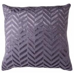 Herringbone Flax Blue Jute Cushion Large