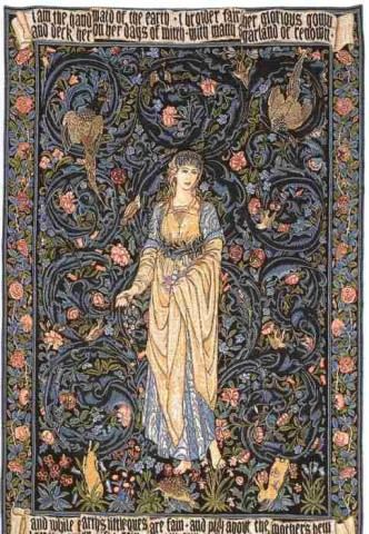 Flora Flemish Tapestry Wall Hanging