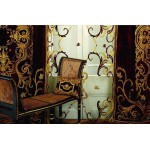 Florence Net Curtain Panel Gold