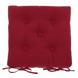 Florentine Red buttoned seat pad