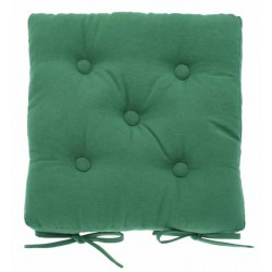 Foliage Green buttoned seat pad