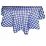Gingham Blue Country Check fabric tablecloths
