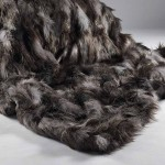 Grey Patchwork Faux Fur