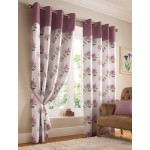 hibiscus floral curtains mauve