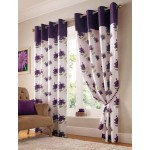 hibiscus floral curtains purple