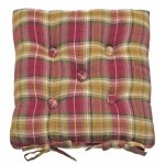 Highland buttoned seat pad