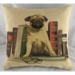 Bookends Pug Cushion