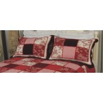 Margaux red patchwork pillow sham