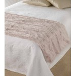 Marilyn Faux Fur Bed Throw Oyster