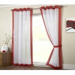 Mayfair eyelet panel red