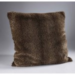 Oyster Brown Faux Fur Cushion