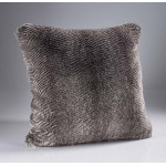 Oyster Grey Faux Fur Cushion