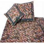 Patchwork quilt - dark plaids
