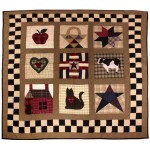 American Primitive Sampler Throw