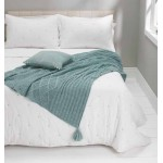 Patchwork Knit Throw  Bleu de Mer