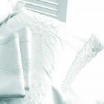Yvette Lace oxford pillowcase