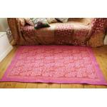 Pink Felted Rug