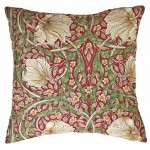 William Morris Pimpernel Red Cushion