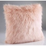 Rose Pink Faux Fur Cushion