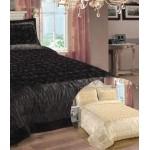 Rose Cream satin bedspread