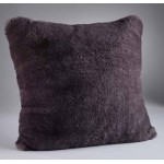 Russian Blue Faux Fur Cushion