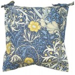 William Morris Seaweed Oxford seat pad