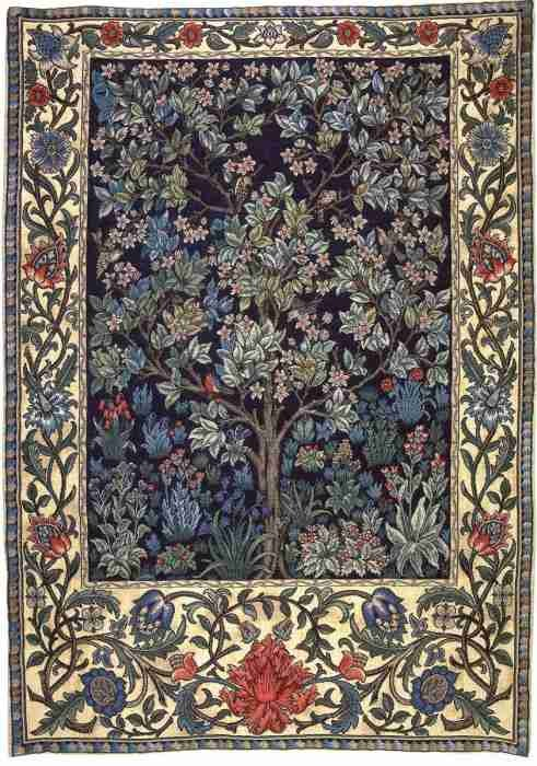 Tree Of Life Flemish Tapestry Wall Hanging