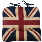 Union Jack tea-dye chunky seat pad