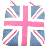 Union Jack pink chunky seat pad