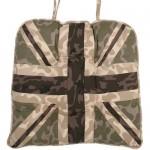 Union Jack camouflage chunky seat pad