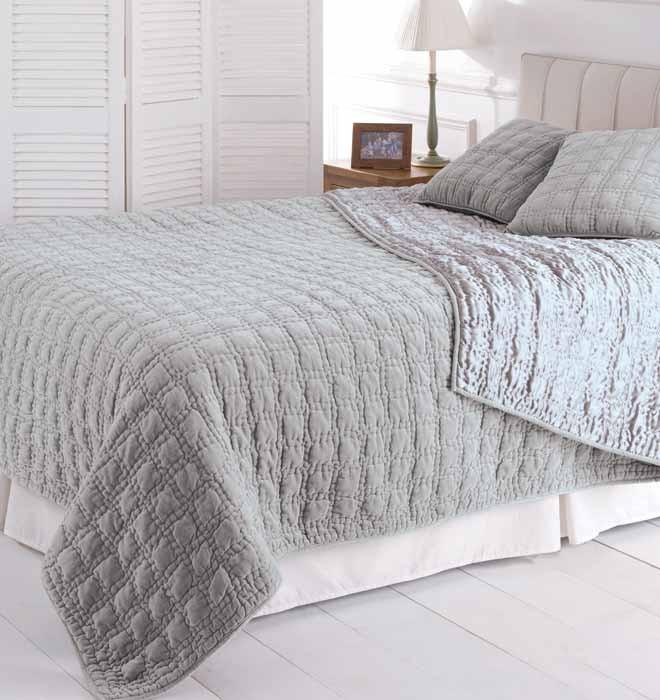 Vendome grey for Grey velvet comforter