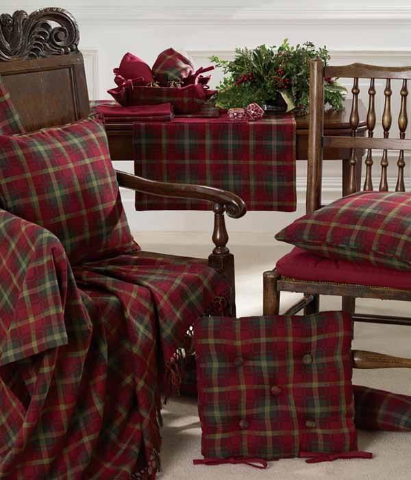 Woodland Tartan Seat Pad