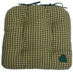 Country York Green Mini Plaid chunky seat pad