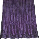 Alison Heather Velvet Appliqued Curtain
