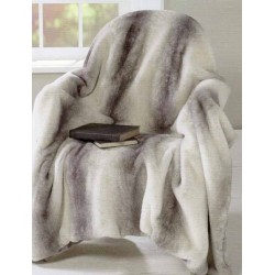 Angora Grey faux fur throw